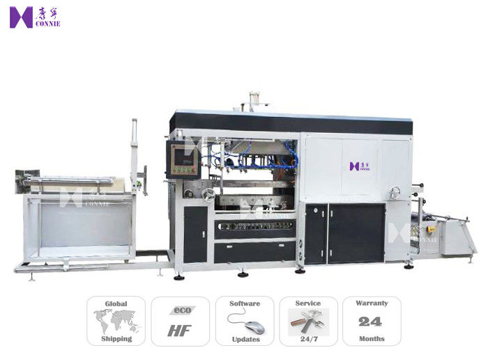 Full Auto Vacuum Blister Forming Machine For PVC Tray Lids Forming 25-45 Pcs / Min